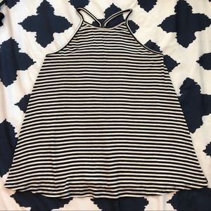 Old Navy Striped High Neck Swing Tank XS